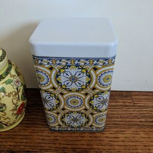 Chinese And Portugese Decorative Tea Tins